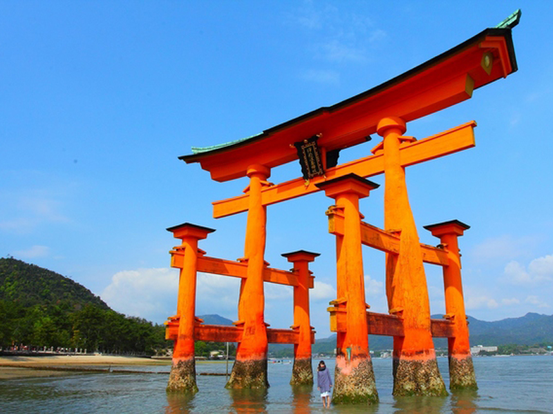 Torii over the water