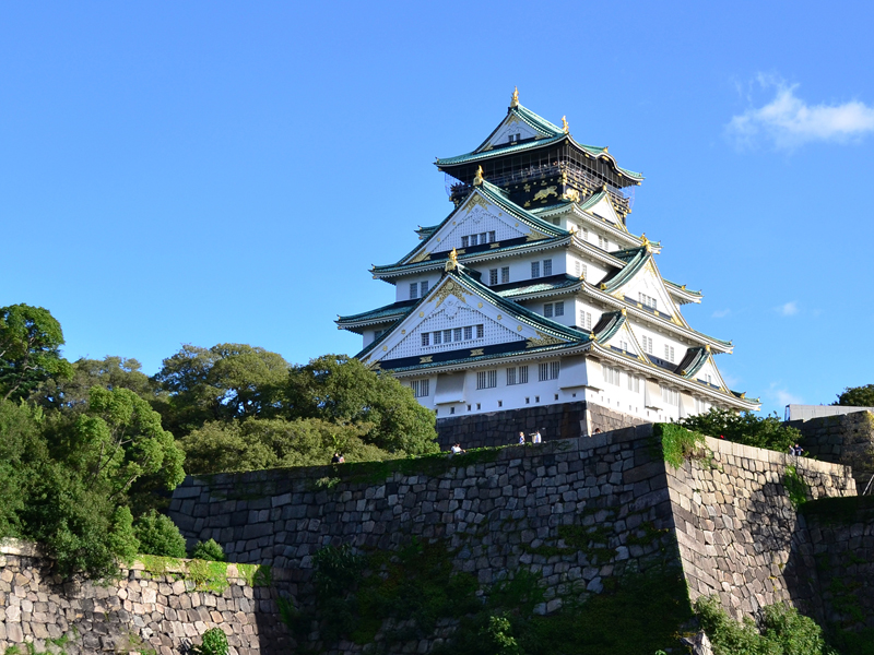 Osaka Highlights 8 Hours [Osaka-jo castle, Doton-bori, Umeda Sky Bldg]