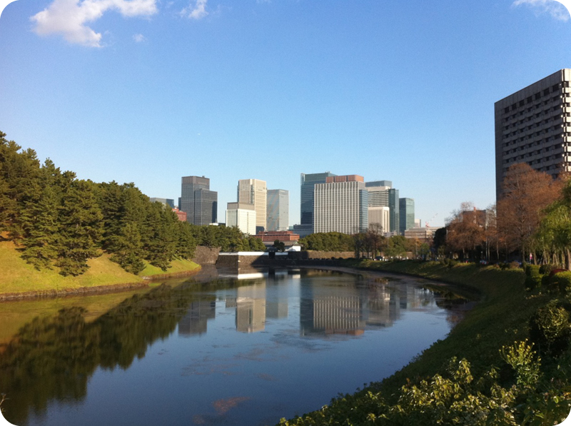 Walk around The Imperial Palace: Gov't & Biz districts of Tokyo